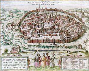 Карта Иерусалима (1575)