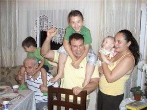 С семьей брата и внучатыми племянниками. Израиль