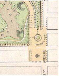 План организации площади у парка на 5 авеню (1868 г.) en.wikipedia.org/wiki/Grand_ Army_Plaza_(Manhattan)