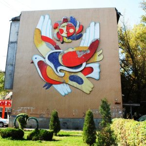 Голубь в Оше. Фото из личного архива художника.