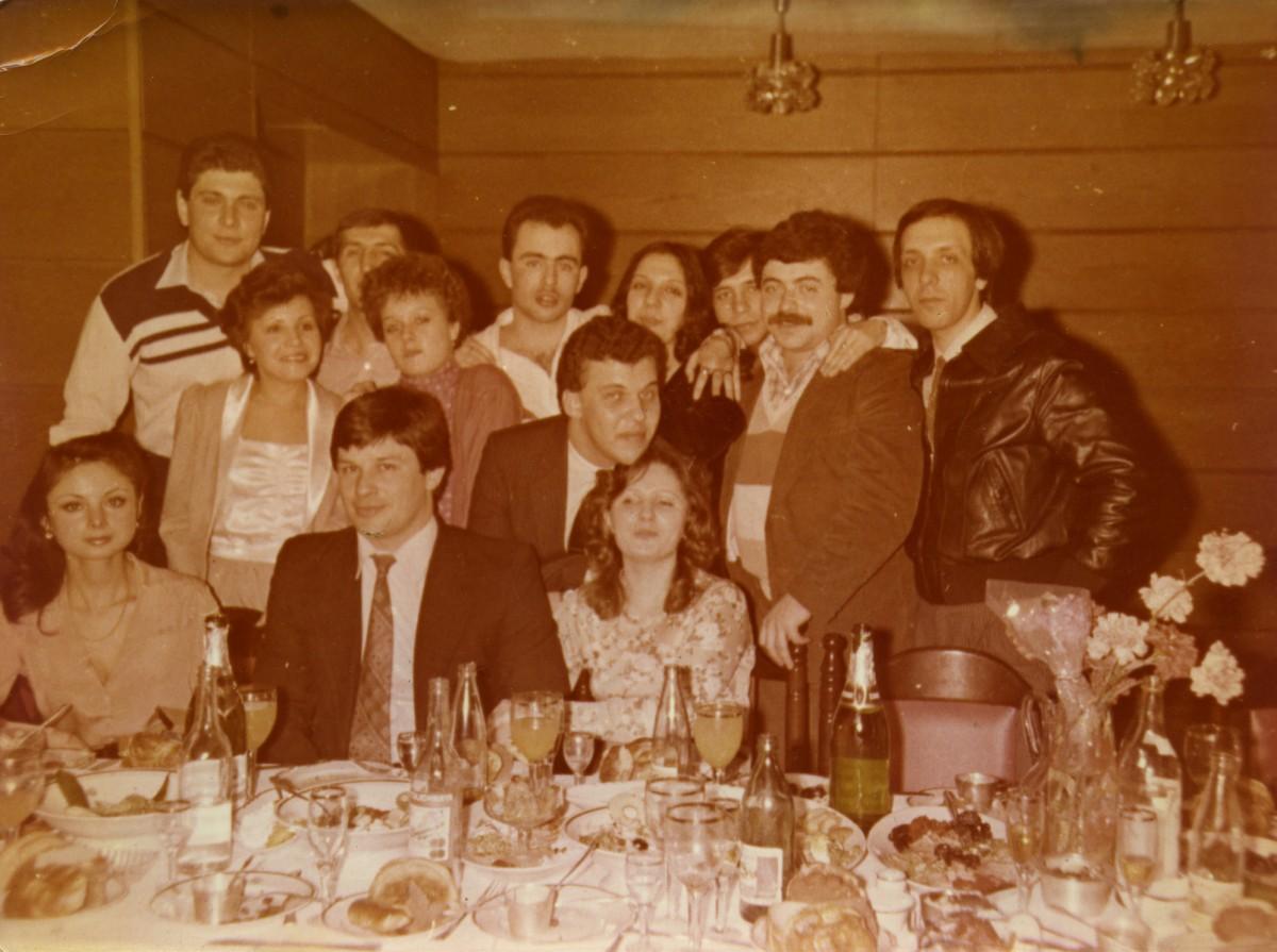 Проводы Саши Любарова (в центре) в Америку, 1979