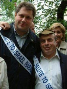 С Натаном Шаранским на параде Салют, Израиль