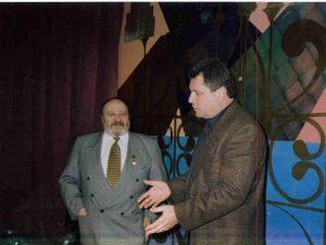 На творческой встрече с Георгием Вайнером в Фанораме, 1998 год