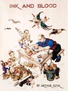 Автопортрет, Ink and Blood: A Book of Drawings, 1946 год Joseph and Alexandra Braciejowski Collection, United States Holocaust Memorial Museum, Washington, D.C.