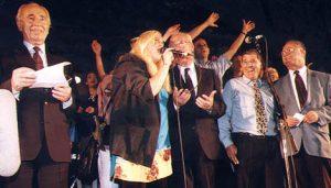 rabin01- песня мира - финал митинга