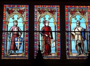 Это «липовые предки графа-маркиза в Рыцарском зале замка