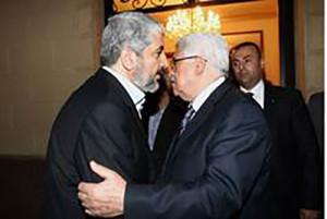 Глава ХАМАСа Халед Машаль и председатель ФАТХа Абу-Мазен