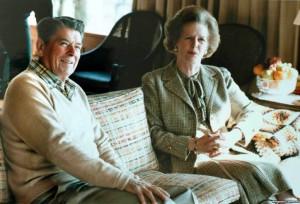 Маргарет Тэтчер с Рональдом Рейганом во время визита в США в 1984 году