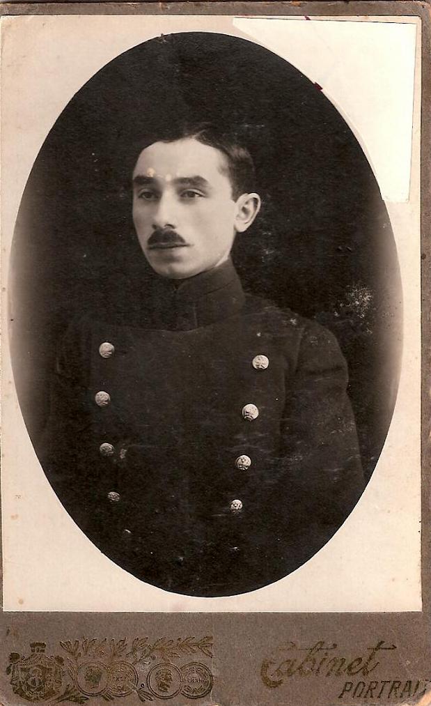 Самуил Клейн в форме студента Варшавского императорского университета, 1913–1914 гг.