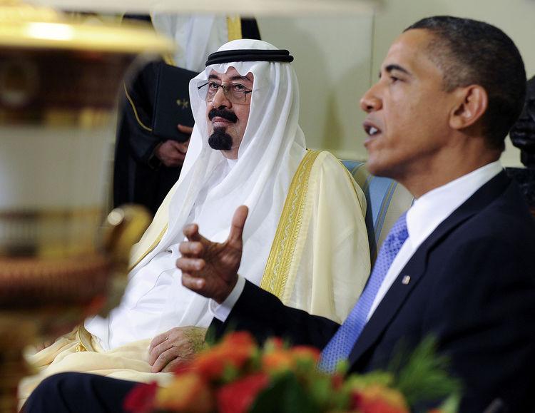 obama with saud