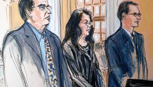 Глафира Розалес с адвокатами в суде