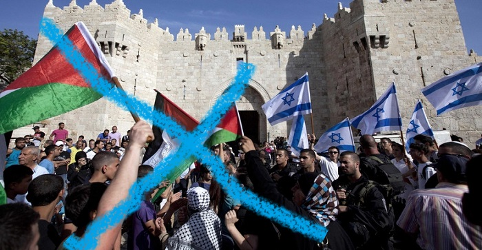 Image result for араб с палестинским флагом еврей с израильским