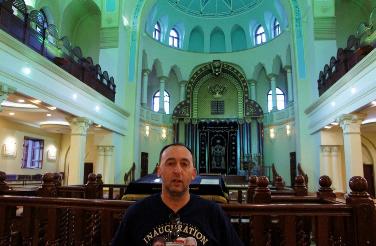 В Хоральной синагоге Харькова. Фото: Шимон Бриман.