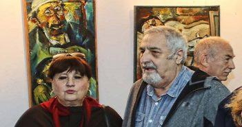 Автор на открытии выставки Вениамина Клецеля в Иерусалиме 17.12.2017