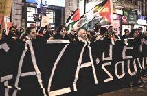 Антиизраильская студенческая демонстрация в Монреале
