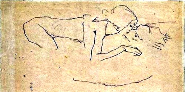 Поцелуй. Худ. Эгон Шилле, 1911 г.