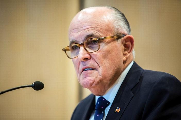 Former NY Mayor Rudolph Giuliani in Berlin