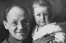 Soviet writer isaac babel, who was executed in 1940 or 1941, with his grandson.