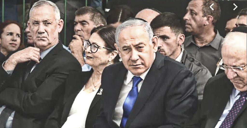 """Двое """"победителей"""" последних выборов, Президент и Председатель Верховного суда Израиля (между Бениаминами)"""