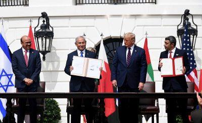 Подписание соглашений о мире между Израилем, ОАЭ и Бахрейном в Белом Доме.