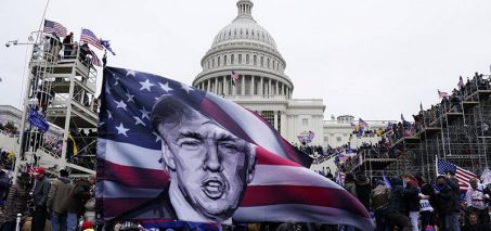Supporters of President Trump on the grounds of the US Capitol