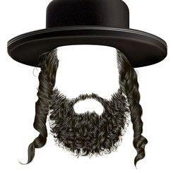 black-hair-sidelocks-beard-mask-260nw-489699337